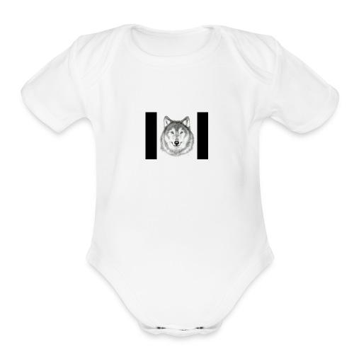 Wolf Gaming Live Stream Shirt - Organic Short Sleeve Baby Bodysuit