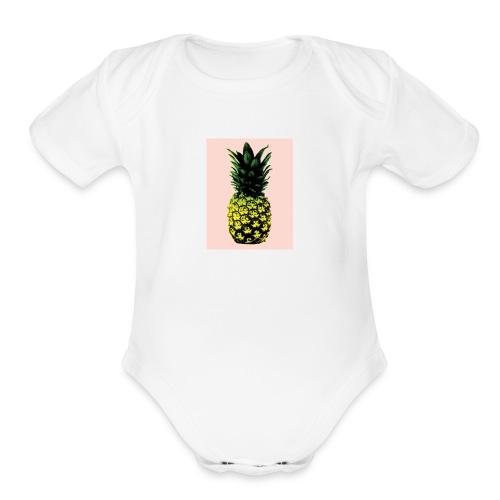 Pineapple - Organic Short Sleeve Baby Bodysuit