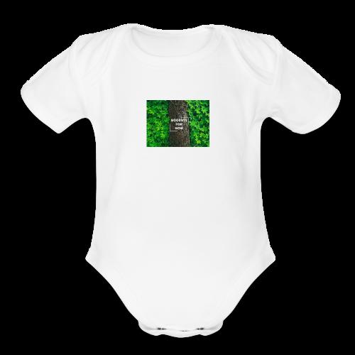 Goodbye For Now Design - Organic Short Sleeve Baby Bodysuit