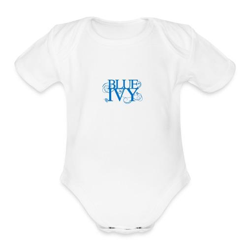 Blue Ivy Logo - Organic Short Sleeve Baby Bodysuit