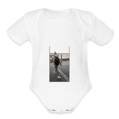 hoodie walker - Organic Short Sleeve Baby Bodysuit