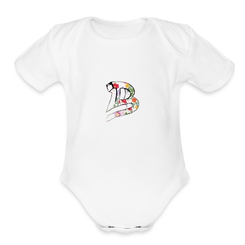 53 Floral - Organic Short Sleeve Baby Bodysuit