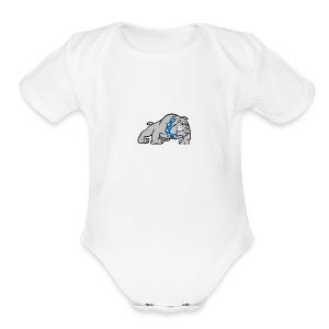 bull dog - Short Sleeve Baby Bodysuit