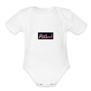 michael fenson - Short Sleeve Baby Bodysuit