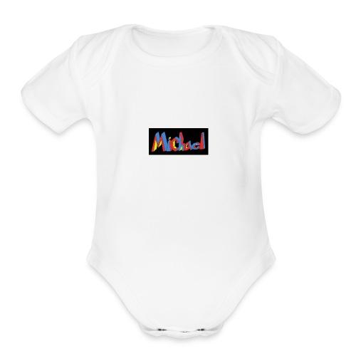 michael fenson - Organic Short Sleeve Baby Bodysuit