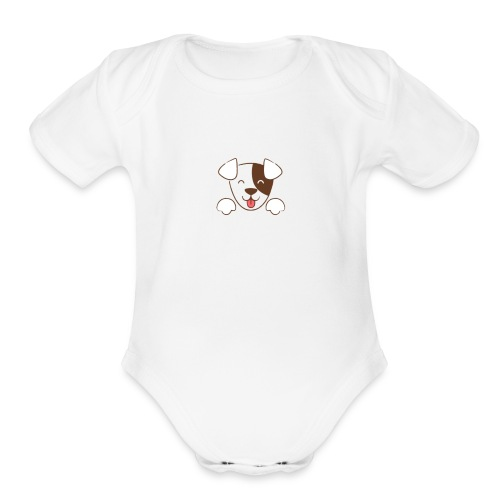 Daisy Dog - Organic Short Sleeve Baby Bodysuit