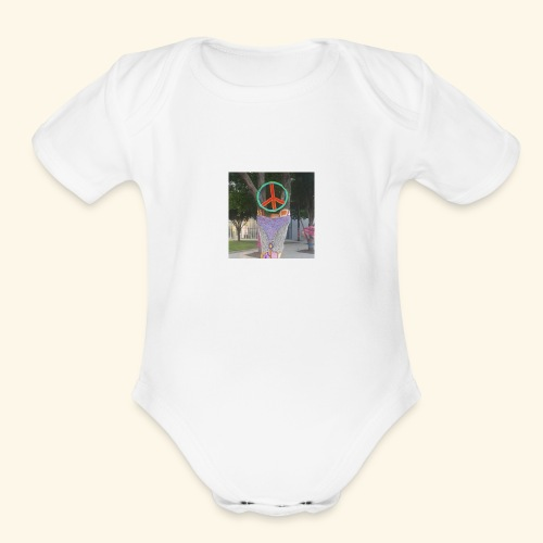 Peace Shirt - Organic Short Sleeve Baby Bodysuit