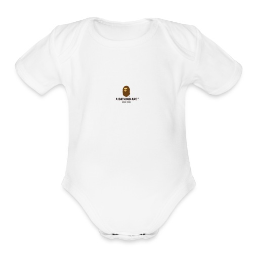 BAPE large - Organic Short Sleeve Baby Bodysuit