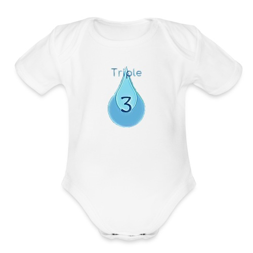 Triple - Organic Short Sleeve Baby Bodysuit