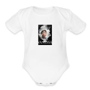 Vanessa smoke - Short Sleeve Baby Bodysuit