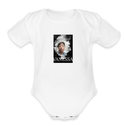 Vanessa smoke - Organic Short Sleeve Baby Bodysuit