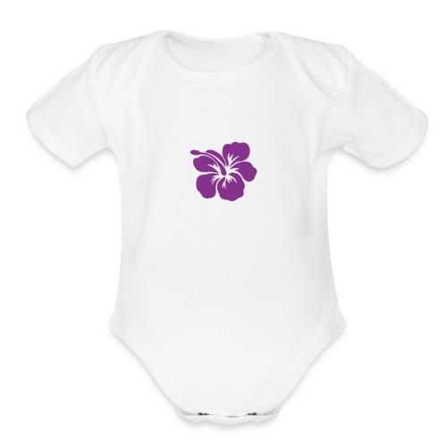 Flowersglow - Organic Short Sleeve Baby Bodysuit