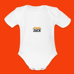 monster jack logo - Short Sleeve Baby Bodysuit