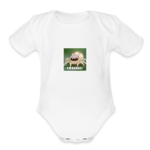 i just find myself a cute spider what should i do - Short Sleeve Baby Bodysuit