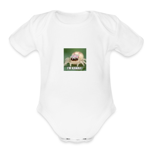 i just find myself a cute spider what should i do - Organic Short Sleeve Baby Bodysuit