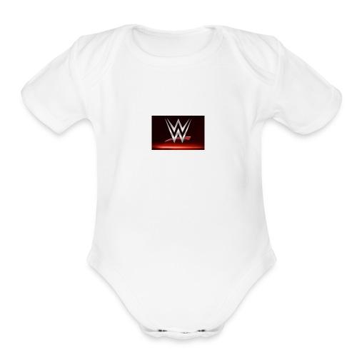 wwe - Organic Short Sleeve Baby Bodysuit