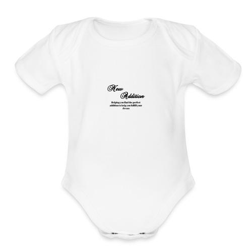 New Addition - Organic Short Sleeve Baby Bodysuit