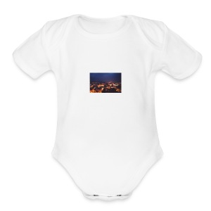300px-Downtown_Binghamton_at_Night - Short Sleeve Baby Bodysuit
