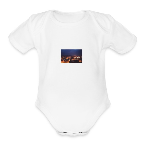 300px-Downtown_Binghamton_at_Night - Organic Short Sleeve Baby Bodysuit