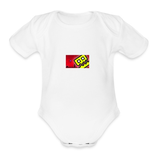 TheGeoMaster WHO ARE YOU?!?! Shirt - Organic Short Sleeve Baby Bodysuit