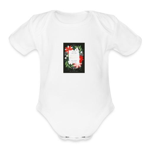 c9ce352ca5afbccfbac313e9d70e0a45 vintage holidayon - Organic Short Sleeve Baby Bodysuit