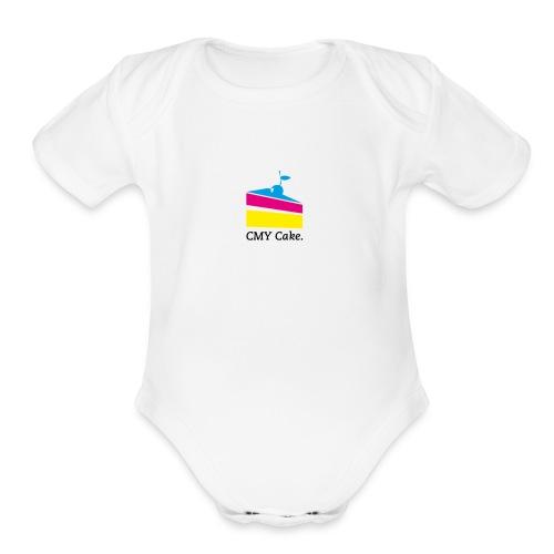 CMY Cake - Organic Short Sleeve Baby Bodysuit