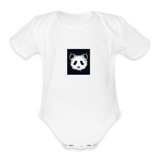 Pandagirlstuff - Organic Short Sleeve Baby Bodysuit