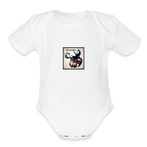Moosmilk Signuture Merch - Organic Short Sleeve Baby Bodysuit