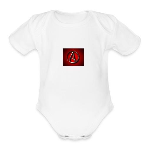 Atheist A jpgweb - Organic Short Sleeve Baby Bodysuit