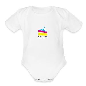 CMY Cake - Short Sleeve Baby Bodysuit