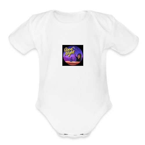 Good night - Organic Short Sleeve Baby Bodysuit