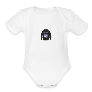 liion beast - Short Sleeve Baby Bodysuit