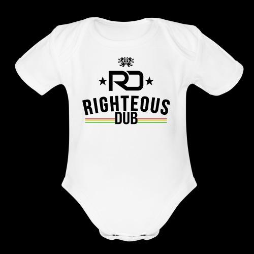 Righteous Dub Logo - Organic Short Sleeve Baby Bodysuit