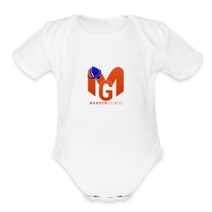 MaddenGamers MG Logo - Short Sleeve Baby Bodysuit
