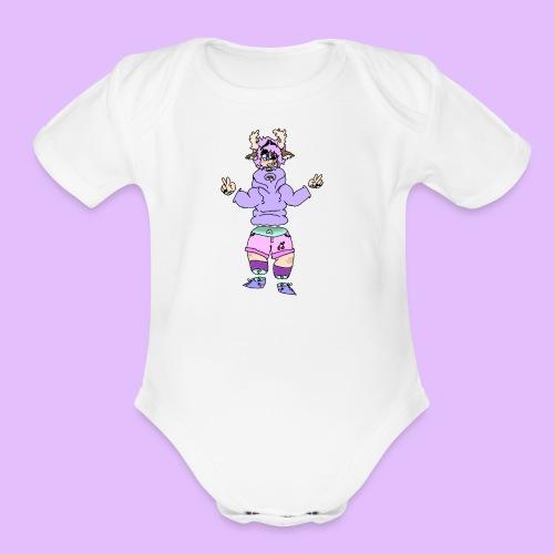 oh deer - Organic Short Sleeve Baby Bodysuit