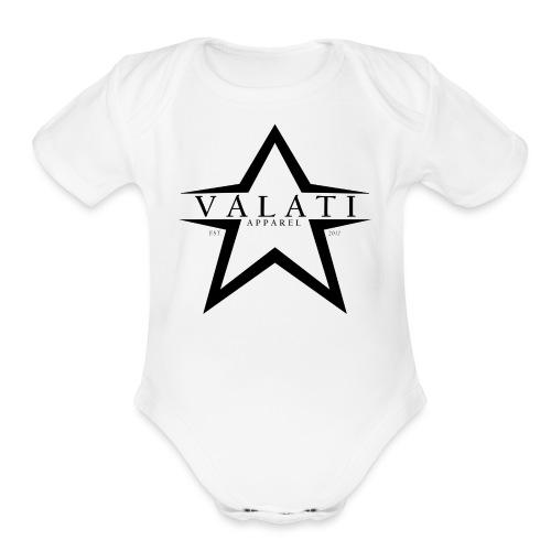 V-STAR Black - Organic Short Sleeve Baby Bodysuit