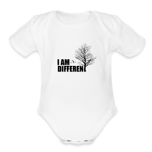 I am Different - Short Sleeve Baby Bodysuit