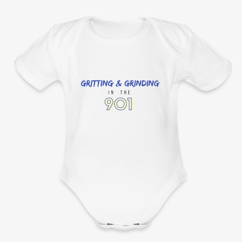 Gritting & Grinding in the 901 - Organic Short Sleeve Baby Bodysuit