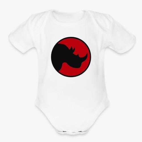 rhino logo - Organic Short Sleeve Baby Bodysuit