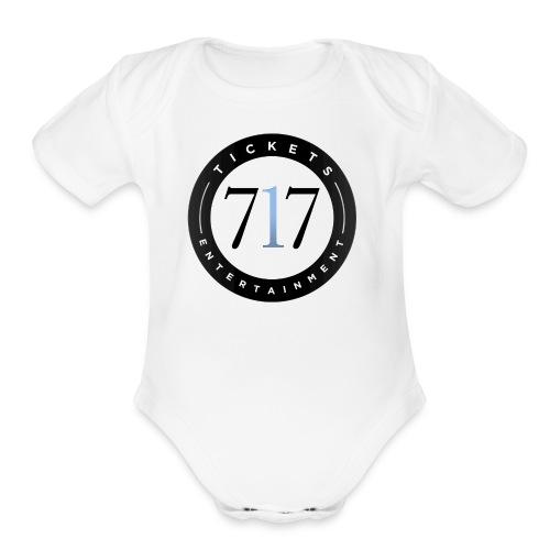 717logo - Organic Short Sleeve Baby Bodysuit