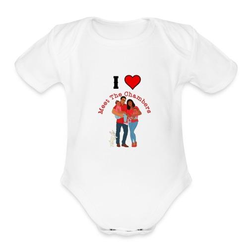 I Love MTC - Organic Short Sleeve Baby Bodysuit