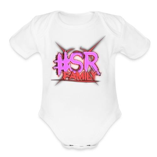 SR Family LOGO V4 2 - Organic Short Sleeve Baby Bodysuit