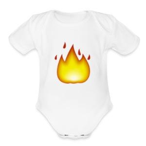 fire 2 - Short Sleeve Baby Bodysuit