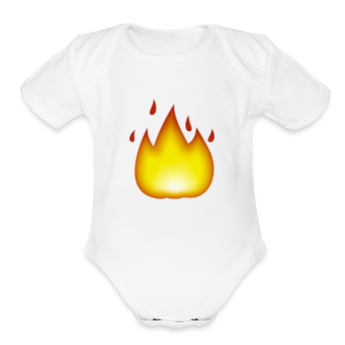 fire 2 - Organic Short Sleeve Baby Bodysuit