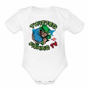 Official Twizted Fishing TV Logo!! - Short Sleeve Baby Bodysuit