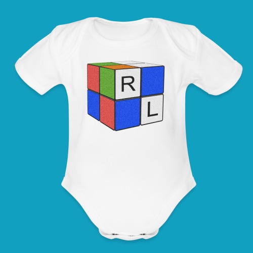 Faded Cube - Organic Short Sleeve Baby Bodysuit