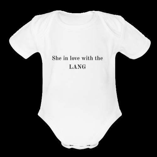 LANG - Organic Short Sleeve Baby Bodysuit