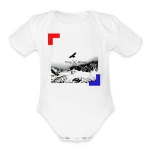 Yung Muney Official Artwork Logo - Short Sleeve Baby Bodysuit