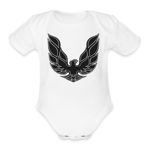 trans am logo - Organic Short Sleeve Baby Bodysuit