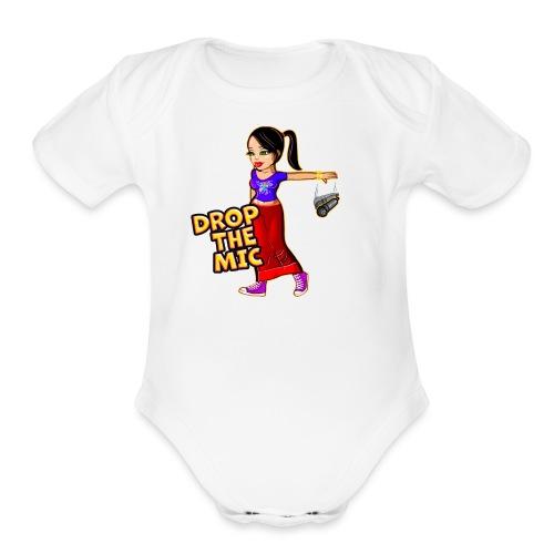 Drop the Mic - Organic Short Sleeve Baby Bodysuit